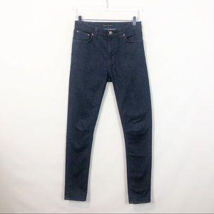 Nudie Jeans Pipe Led Dry Dark Navy 30x 32